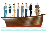 Leadership and teamwork - vector illustration