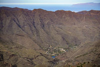 The basin of La Laya on the island of La Gomera