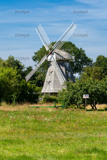 Mill with cafe in Ahrenshop, Fischland-Darss, Mecklenburg-Western Pomerania, summer 2020