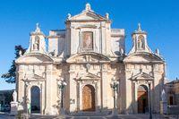 Front of Collegiate church of St Paul Rabat Malta