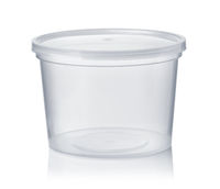 Round transparent disposable food container
