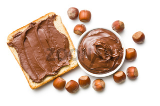 chocolate spread with bread