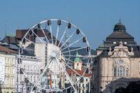 Bratislava Ferris wheel with  reduta concert hall