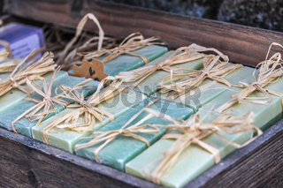 Rustic soaps in the village of Oppede-Le-Vieux