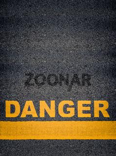 Danger Asphalt Road Markings