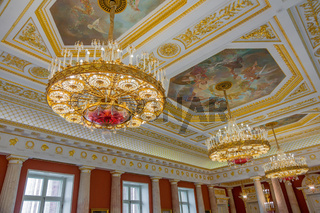 Interior of the architectural ensemble in the Tsaritsyno park. Moscow, Russia
