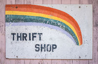 Grungy Thrift Shop Sign