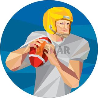 American Football Quarterback QB Low Polygon