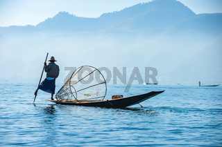 Fishermen at Inle lake, Shan State, Myanmar