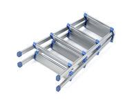 Foldable aluminum stepladder
