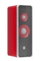 Red speaker on white
