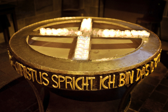 Christ speaks I am the light, St. Petri Cathedral, Free Hanseatic City of Bremen, Germany, Europe