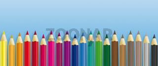 Colored Pencils Blue Header