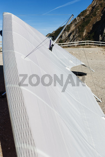 Wing of a delta glider vertical