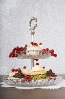 Etagere with pastries