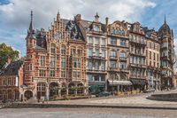Historic gable houses on Mont des Arts in Brussels