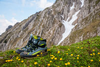 shoes in the mountains
