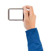 Photo camera in hand