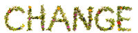 Flower And Blossom Letter Building Word Change