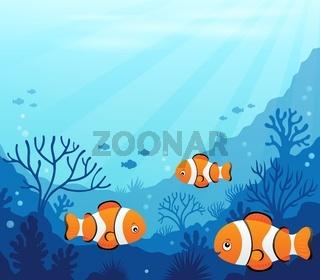 Ocean underwater theme background 7
