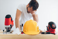 Builder unable to work during the coronavirus Covid 19 lockdown