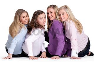 Happy girly group