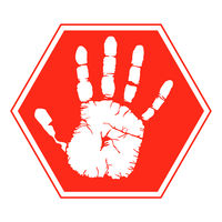 handprint - Symbol, Warning Sign,vector illustration