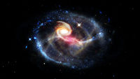 Spiral galaxies and nebula in space. Elements of this image furnished by NASA.