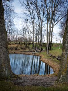 Resting place at the Ochsenbrunnen near Jois in Burgenland