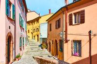 Old street in Santarcangelo di Romagna