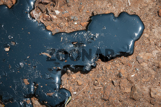 Oily liquid on the earth