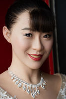 Portrait of a wax figure of a beautiful Chinese woman