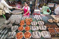 THAILAND KAMPHAENG PHET MARKET FOOD FISH