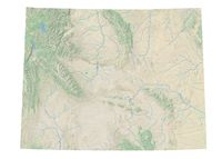 High resolution topographic map of Wyoming