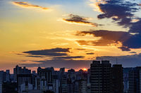 City of Belo Horizonte in Minas Gerais at sunset