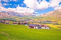 Beautiful landscape of Cortina d' Ampezzo in Dolomites Alps view