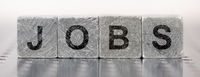 jobs printed on cubes