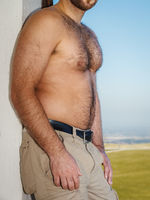very hairy male body