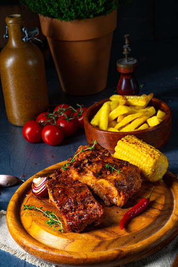 tender spare ribs from the grill
