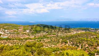 View of Aegina Island next to Agia Marina