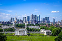 Canary Wharf view from Greenwich Park, London, United Kingdom