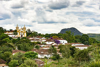 View of the old and famous city of Tiradentes in Minas Gerais