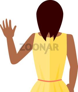 Woman Waving Vector