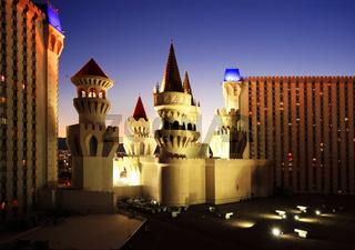 Castle Casino in Las Vegas at night