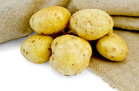 Potatoes yellow with bagging
