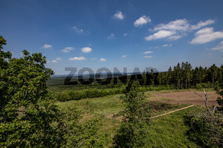 the wide landscape of the Siegerland as a green lung