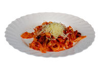 Pasta With Tomato Sauce and Cheese