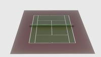 3d illustration of tennis field, cort for sport
