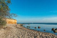 The chalk cliffs near Klein Zicker on the baltic sea island Ruegen