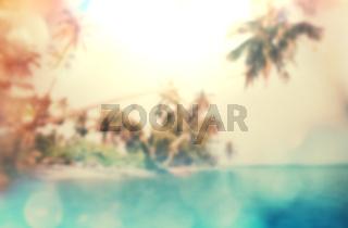 Tropical beach blur